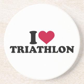 Liebe I Triathlon Getränkeuntersetzer