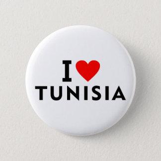 Liebe I Tunesien-Land wie Herzreisetourismus Runder Button 5,7 Cm