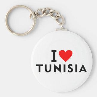 Liebe I Tunesien-Land wie Herzreisetourismus Schlüsselanhänger