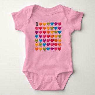 Liebe I (Unendlichkeit) Regenbogen Baby Strampler
