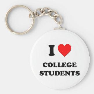 Liebe I Uni-Studenten Standard Runder Schlüsselanhänger