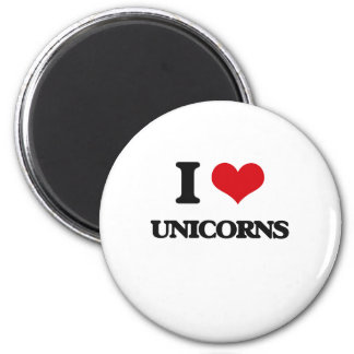Liebe I Unicorns Runder Magnet 5,1 Cm