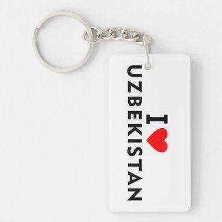 Liebe I Usbekistan-Land wie Herzreise touris Schlüsselanhänger