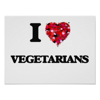 Liebe I Vegetarier Poster