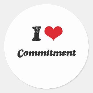 Liebe I Verpflichtung Runder Sticker
