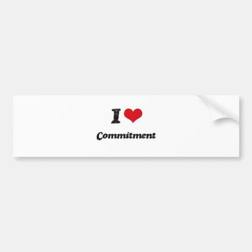 Liebe I Verpflichtung Autoaufkleber