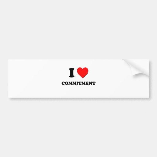 Liebe I Verpflichtung Auto Sticker