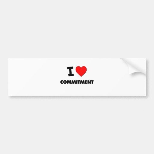 Liebe I Verpflichtung Autosticker