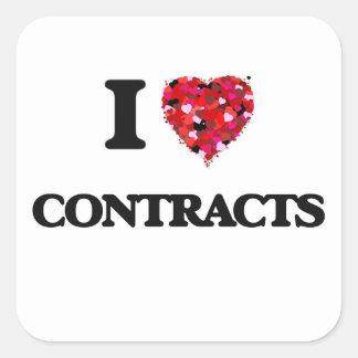 Liebe I Verträge Quadratischer Aufkleber