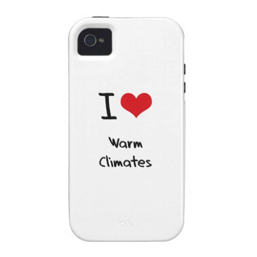 Liebe I warme Klimata iPhone 4 Cover