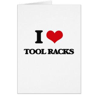 Liebe I Werkzeug-Gestelle Grußkarte