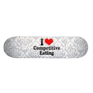 Liebe I wettbewerbsfähiges Essen Bedrucktes Skateboard