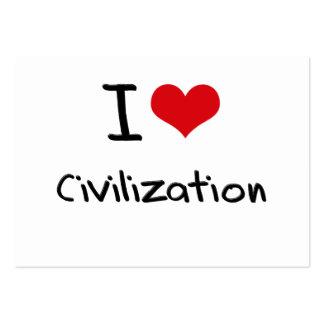 Liebe I Zivilisation Visitenkartenvorlage