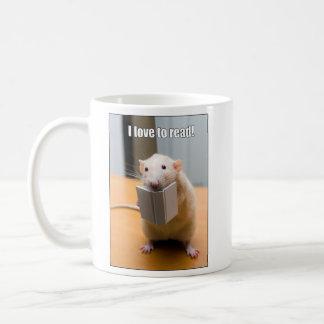 Liebe I zu lesen!  Marty MäuseTasse Kaffeetasse