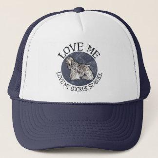 Liebe ich, Liebe mein Cockerspaniel Truckerkappe