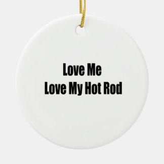 Liebe ich Liebe mein frisiertes Auto Keramik Ornament