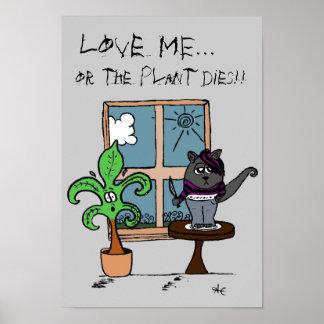 Liebe ICH… oder die Pflanzenwürfel! Poster