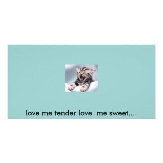 Liebe ich zarte Liebe ich Bonbon…. Photokartenvorlage
