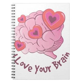 Liebe Ihr Gehirn Spiral Notizblock