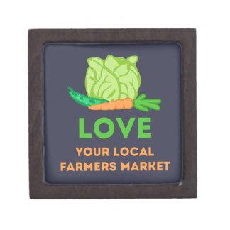 Liebe Ihr lokaler Bauers-Markt Kiste
