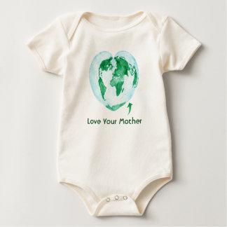 Liebe Ihr Mutter-Erdbaby-Bodysuit Baby Strampler