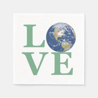 Liebe Ihre Erde Papierserviette