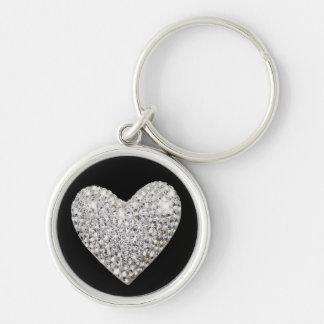 Liebe Ihre Schlüssel Silberfarbener Runder Schlüsselanhänger