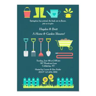 Liebe, im Garten zu arbeiten Rasen-und 12,7 X 17,8 Cm Einladungskarte