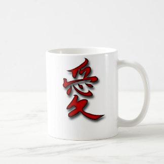 Liebe im Kanji Kaffeetasse