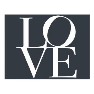 Liebe im Schiefer-Grau Postkarte