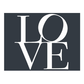 Liebe im Schiefer-Grau Postkarten
