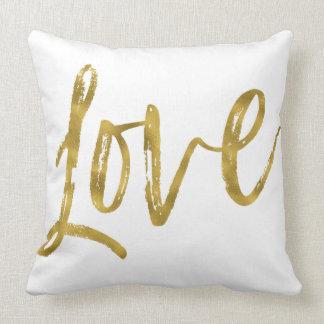 Liebe-Imitat-Goldfolien-Kissen Kissen
