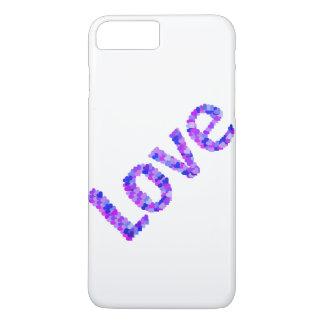 Liebe in den Herzen hell u. in klarem | lila, iPhone 8 Plus/7 Plus Hülle