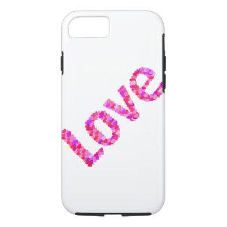 Liebe in den Herzen klar u. in hellem | Rosa, Rot, iPhone 8/7 Hülle