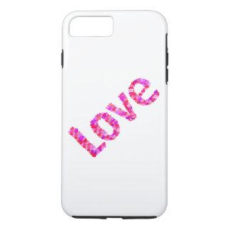 Liebe in den Herzen klar u. in hellem | Rosa, Rot, iPhone 8 Plus/7 Plus Hülle