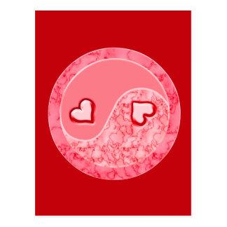 Liebe in der Balance Postkarte