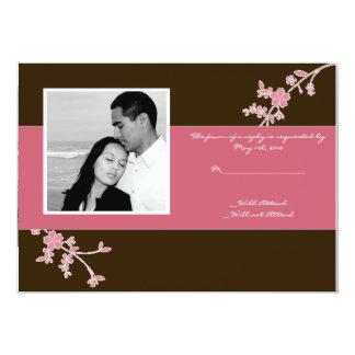 Liebe in der Blüte: Brown-Kirschblüten-Wartekarte Karte