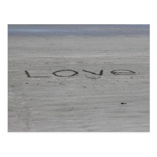 Liebe in der Sand-Postkarte Postkarte