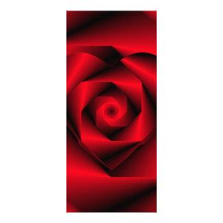 Liebe in der Verkleidung - das Herz einer Rose Werbekarte