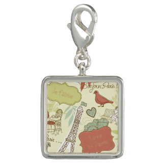 Liebe in Paris-Muster Charm