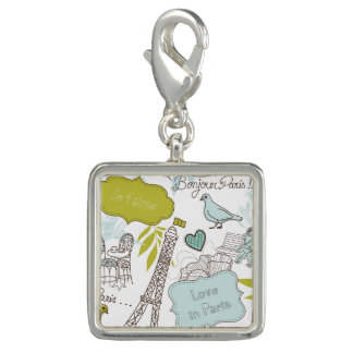 Liebe in Paris-Muster Charms