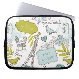 Liebe in Paris-Muster Laptop Sleeve