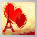 Liebe in Paris Posterdruck