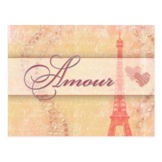 Liebe in Paris Postkarte
