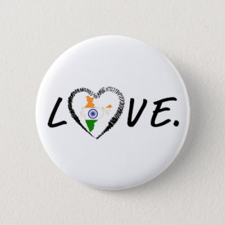 Liebe Indien Runder Button 5,7 Cm