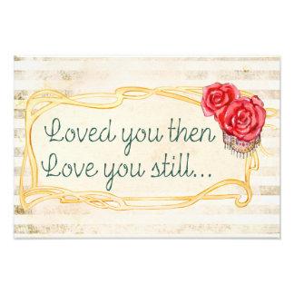 Liebe-Inspirational romantisches Zitat Fotodruck