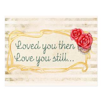 Liebe-Inspirational Zitat Postkarte