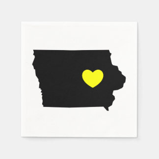 Liebe Iowa - Hawkeye Staat Papierserviette