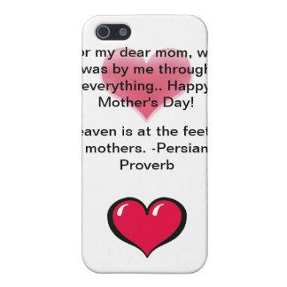 """""""Liebe iPhone 4 der Tag der meine Mutter-"""" Mutter  iPhone 5 Cover"""