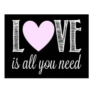 Liebe ist alle, die Sie benötigen Postkarte